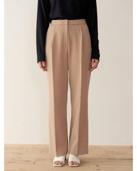 38comeoncommon Tuck Pants - Natural