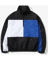 W Concept - Color Block Over Anorak Black - Lyst