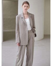 NILBY P New Wide Trousers - Grey