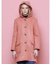 Margarin Fingers - Hood Button Coat - Lyst