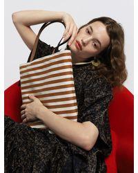 UNDER82 Anne Canvas Bag Brown