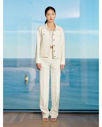 Yull Cropped Natural Cutting Jacket (white)