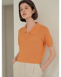 among Button Point Knit [3 Colors] - White