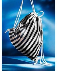UNDER82 - Shinning Drawstring Bag White - Lyst