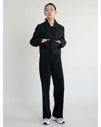 38comeoncommon Pleats Banding Pants - Black