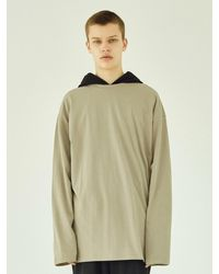 LAYER UNION Ess Layered Long Sleeve Tee - Natural