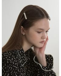 W Concept - Bold Pearl Hairpin - Lyst