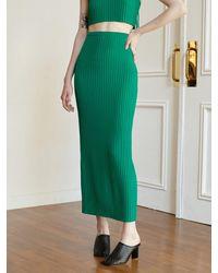 Baby Centaur Knit Long Skirt [] - Green