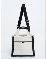 DEMERIEL Multi Canvas Bag Medium - White