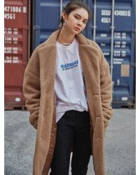 MADMARS - [unisex] Embroidered Fur Coat_camel - Lyst