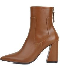 W Concept - Mrc028 Point Ankle Boots Camel - Lyst
