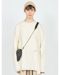 LAYER UNION Ctrs D St Oversized Fit Long Sleeve T-shirt Ivory - White