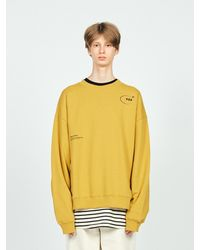 LAYER UNION Circle Logo Over Sweatshirt - Yellow