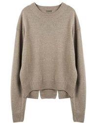 MADGOAT - Back Slit Cashmere Cropped Knit_beige - Lyst