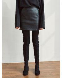 YAN13 Skin A Mini Skirt - Black