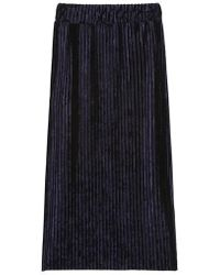 a.t.corner - Dark Navy Polyester Pleats Banding Skirts - Lyst