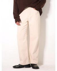 XTONZ Xp49 Wide Denim Trousers - Natural