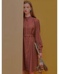 W Concept Saint Dress_brown