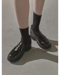 TUFEIS Versatile Round Loafers - Black