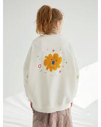 OUI MAIS NON (pre-order) Little Lion Sweatshirt - White