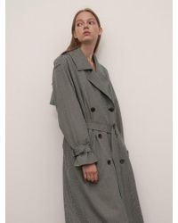 1159 STUDIOS - Mh7 1159 Trench Check Ring Coat_gn - Lyst