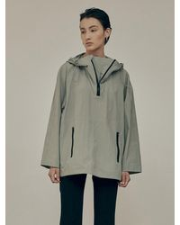 Low Classic Waterproof Anorak Zip-up Top - Green