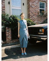 Low Classic Exclusive Slip Twist Dress - Blue