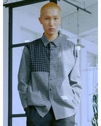 MIGNONNEUF - [unisex]mnfs Pattern Block Shirts Black - Lyst