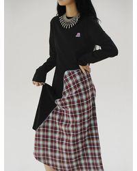 Baby Centaur Bc19fwop02 Check Combination Jersey Dress - Black