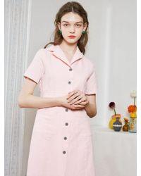 bpb - Pink Open Dress - Lyst