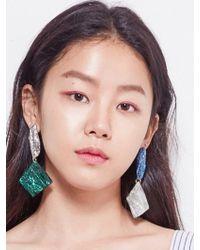 Blank - Crystal Drop Earring - Lyst