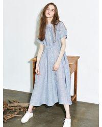 LIUNICK - 2way Stripe Dress Sky - Lyst