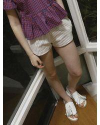 Noir Jewelry Stripe Shorts - Green