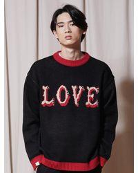 URBANDTYPE Love Crewneck Knit - Black