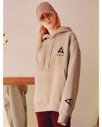 ANOUTFIT [unisex] A-minimal Hoodie Gray