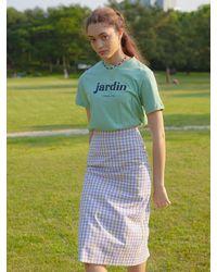 VEMVER Jardin Logo T-shirt - Green