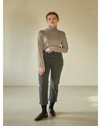 38comeoncommon 19w New Classic Denim Pants - Gray