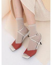 W Concept - Mrc034 X-sandal_rose Cream - Lyst