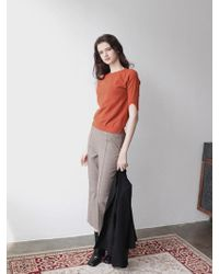 PLOT Slit Sleeve Knit_5colors - Orange