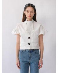 THE ASHLYNN Risa Scarf Blouse (white)