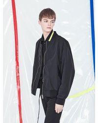 VOIEBIT [unisex] V620 Simple Oversize Ma-1 Jacket Black