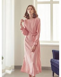 YAN13 - Mood Long Dress Pink - Lyst
