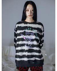 CLUT STUDIO 0 2 Teddy Bear Tie-dye Sweatshirts () - Black