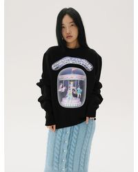 Baby Centaur Bc19awts0 Centaur Carousel Shirring Sweatshirt - Black