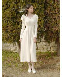 FLOWOOM Nostalgia Dress Long (cm) - Natural