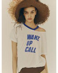 Fleamadonna Wake Up Call Printed T-shirt - Blue
