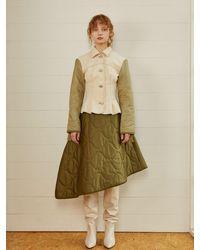 Fleamadonna Military Padding Skirt Khaki - Green