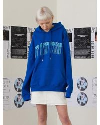 TARGETTO - Arch Logo Hoodie Blue - Lyst
