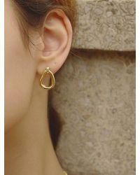 FLOWOOM Melted Honey Earring S - Metallic