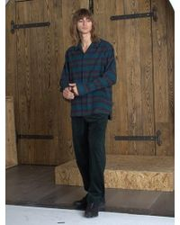 W Concept - Flannel Pajama Shirt _ Green - Lyst